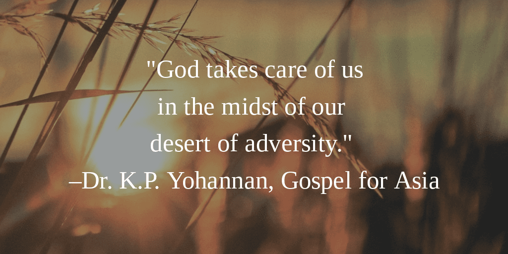 God takes care of Us - KP Yohannan - Gospel for Asia