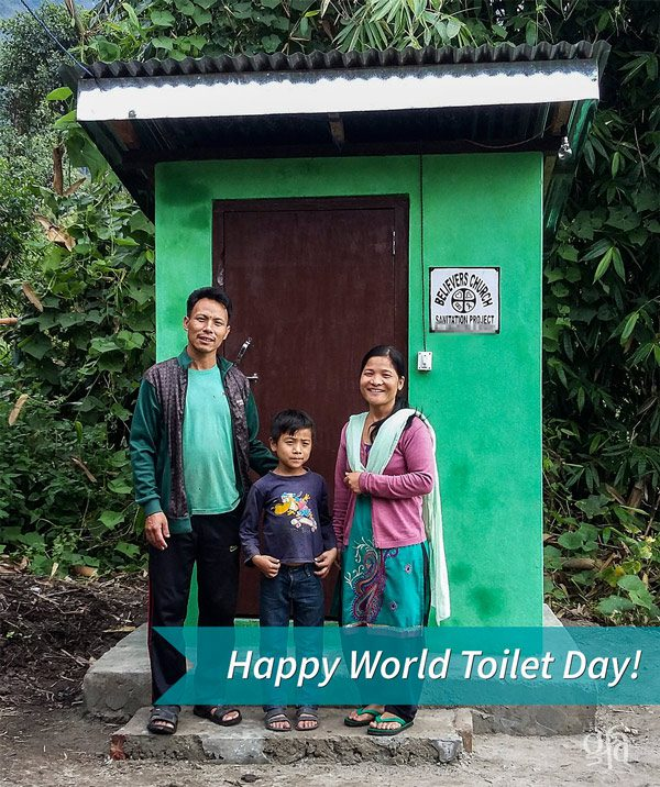 This family received a toilet facility - KP Yohannan - Gospel for Asia