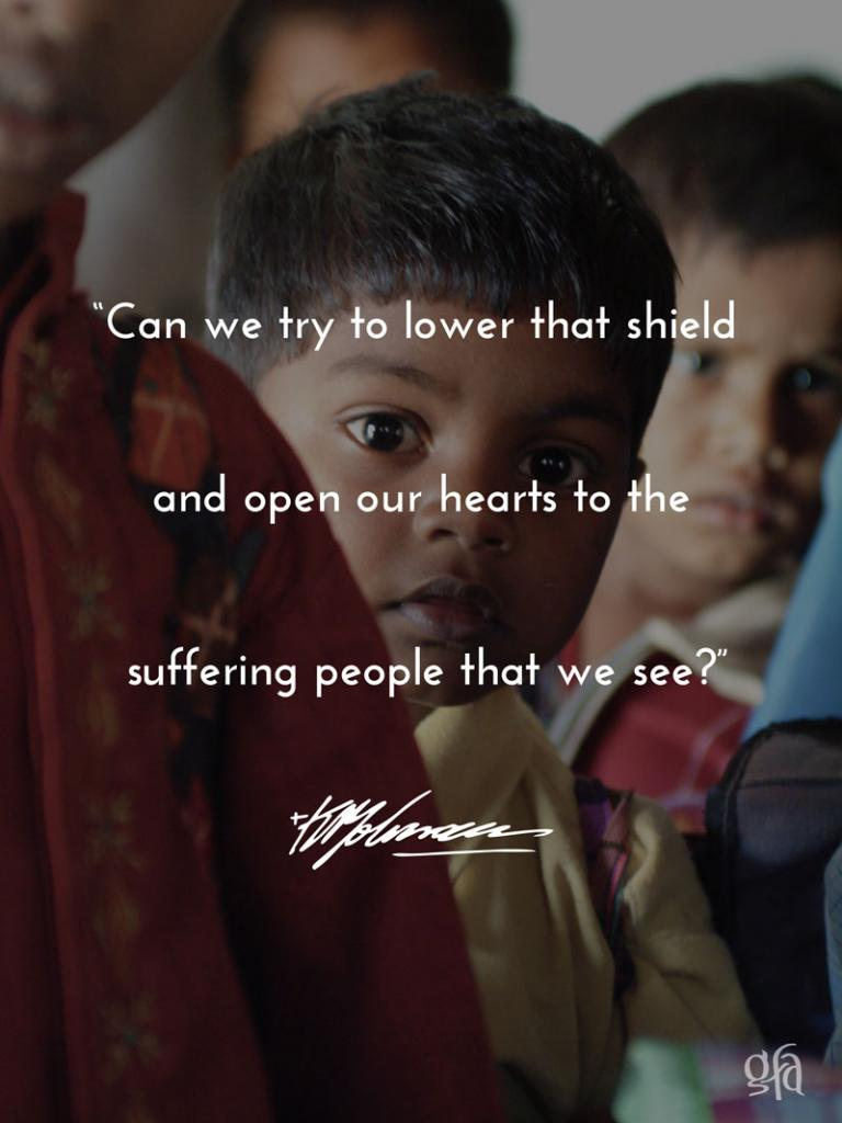open our hearts to the suffering people - KP Yohannan - Gospel for Asia