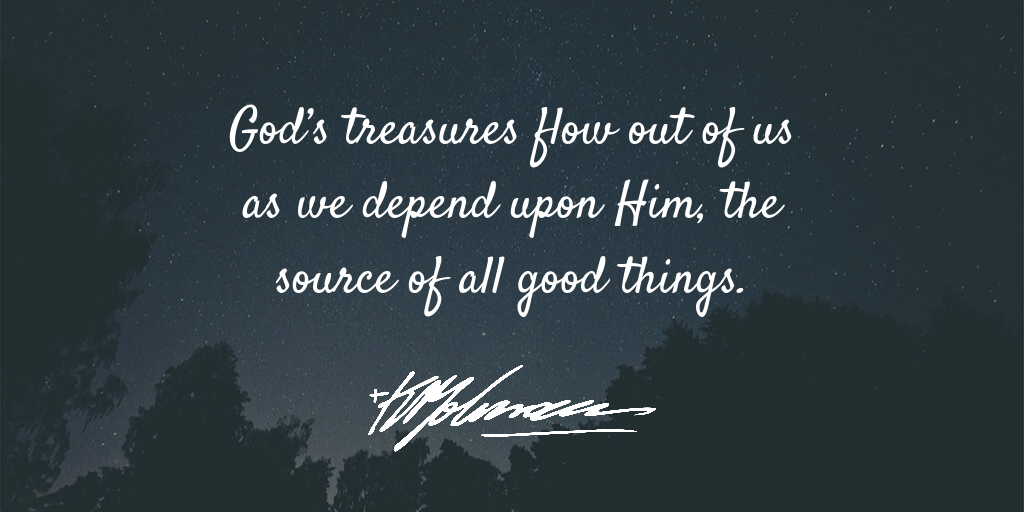 God's treasures flow out - KP Yohannan - Gospel for Asia