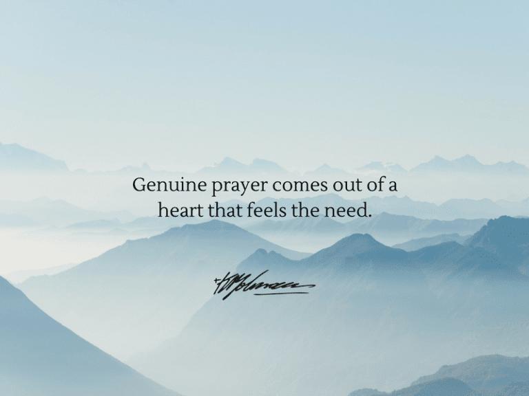 Genuine Prayer - KP Yohannan - Gospel for Asia