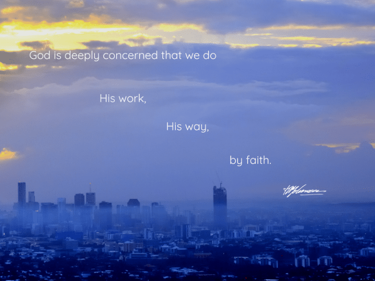 God is deeply concerned that we do His work - KP Yohannan - Gospel for Asia