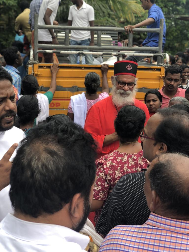 flooding victims at a refugee camp - KP Yohannan - Gospel for Asia