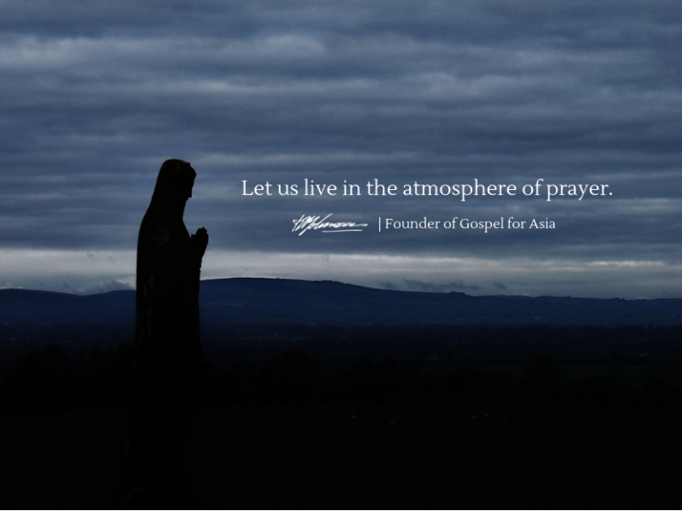 Let us live in the atmosphere of prayer - KP Yohannan - Gospel for Asia
