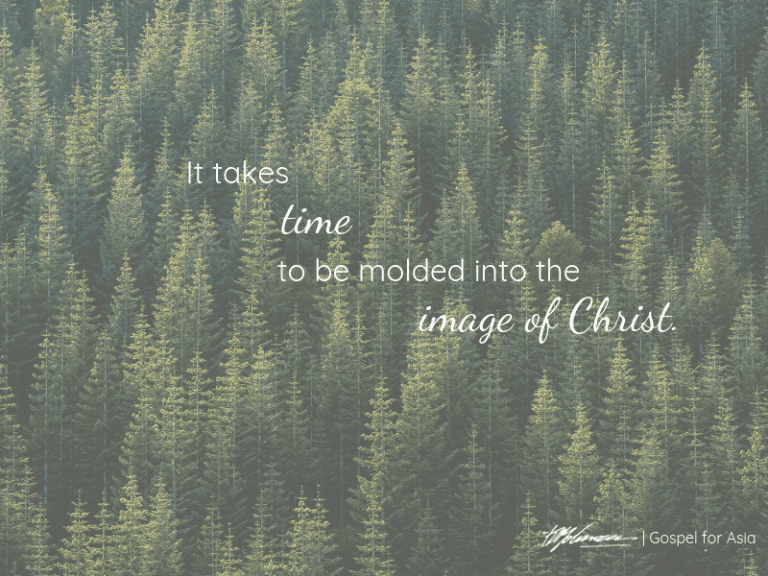 It takes time to be molded into the image of Christ- KP Yohannan - Gospel for Asia