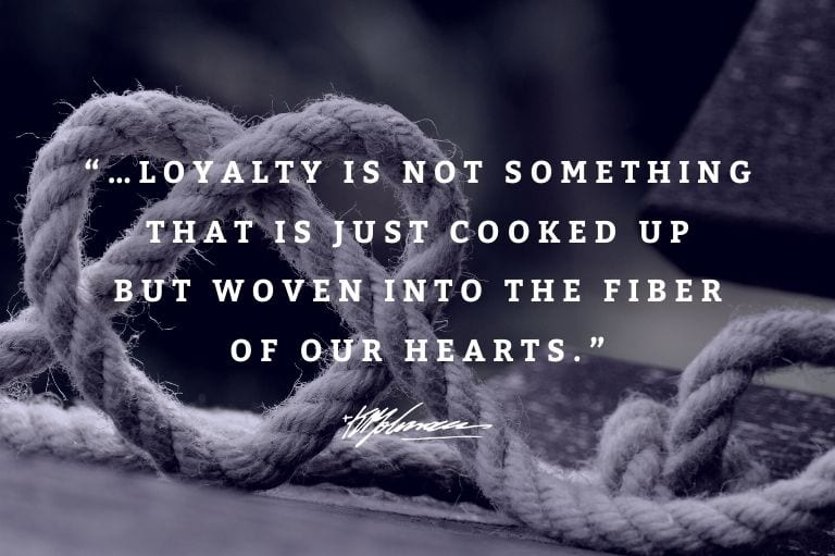 Dr. K.P. Yohannan, founder of Gospel for Asia (GFA World & affiliates like GFA Canada) shares on this most important aspect of integrity: loyalty.