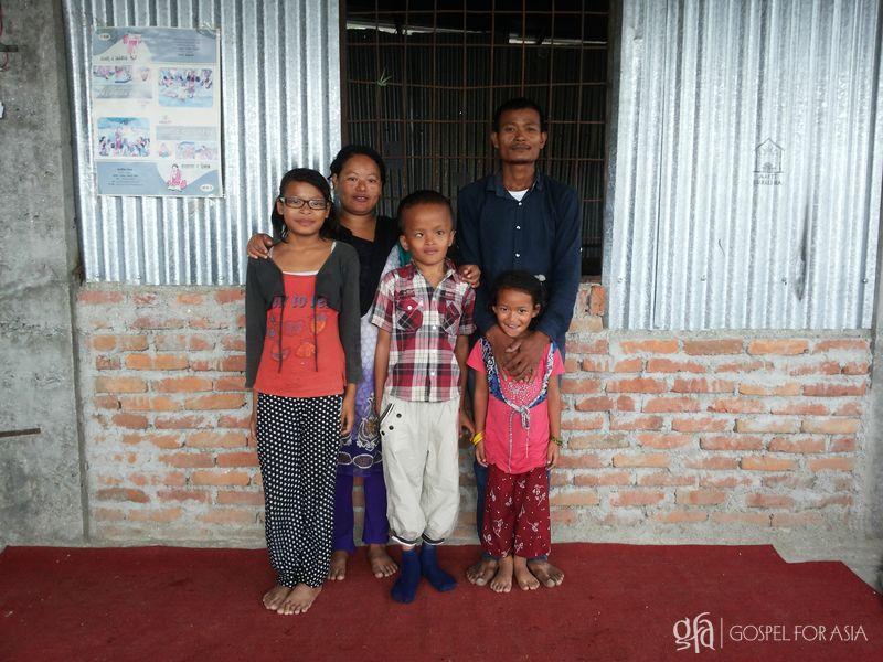 Abhaya and his family - KP Yohannan - Gospel for Asia