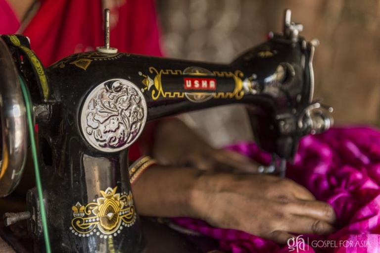 Sewing machines help bring families out of poverty - KP Yohannan - Gospel for Asia
