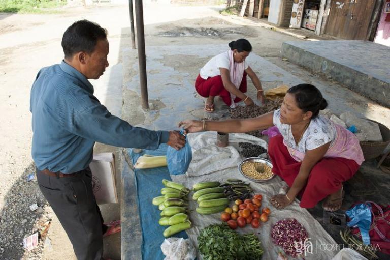 GFA Pastor, grocery shop - KP Yohanan - Gospel for Asia