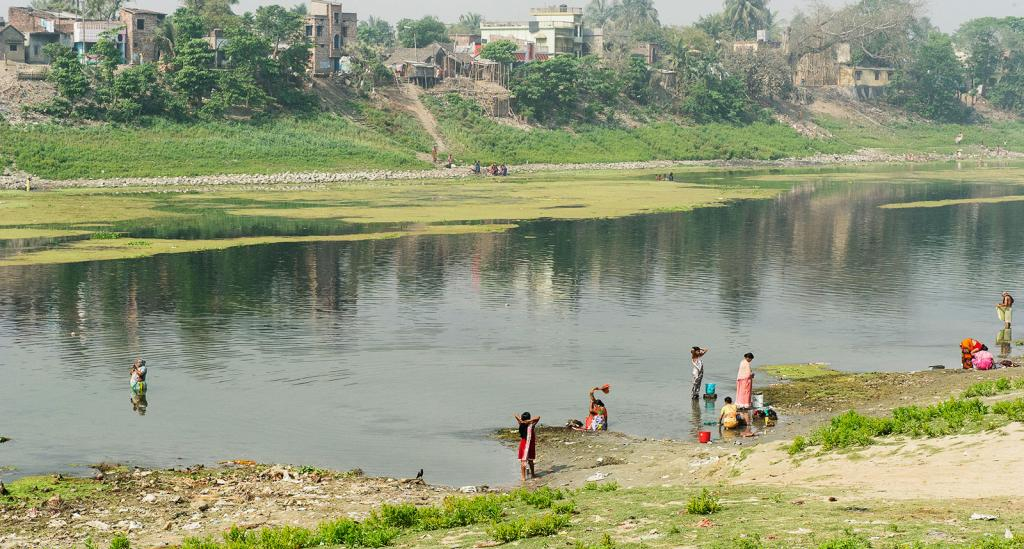 A river in India is often used for bathing, washing and drinking - KP Yohannan - Gospel for Asia
