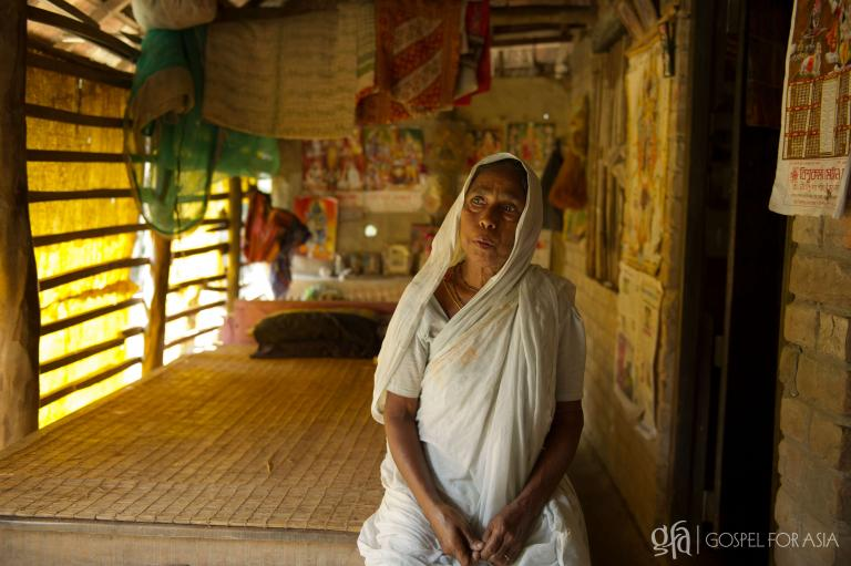 This unfortunate widow lost her husband to a tiger attack in Asia - KP Yohannan - Gospel for Asia