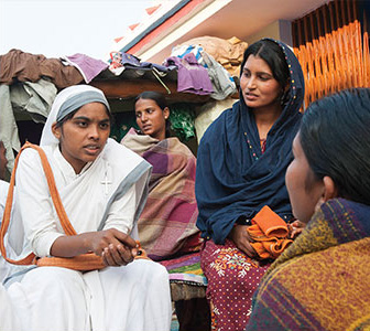Gospel for Asia (GFA World) founded by Dr. K.P. Yohannan: This Sister of Compassion ministers to the women around her