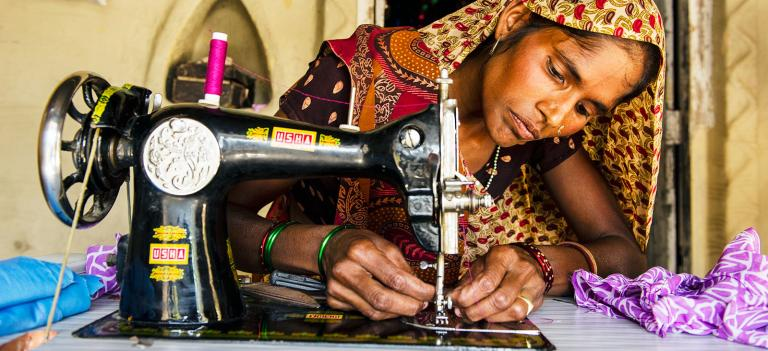 Sewing machine provides a widow with dignity and a way to earn an income despite the loss of a spouse - KP Yohannan - Gospel for Asia