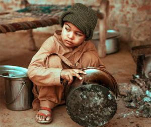 A young boy in Pakistan. One in three Pakistanis lives below the poverty line - KP Yohannan - Gospel for Asia