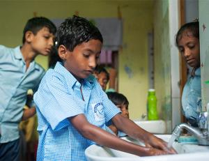 By learning how to wash his hands - KP Yohannan - Gospel for Asia