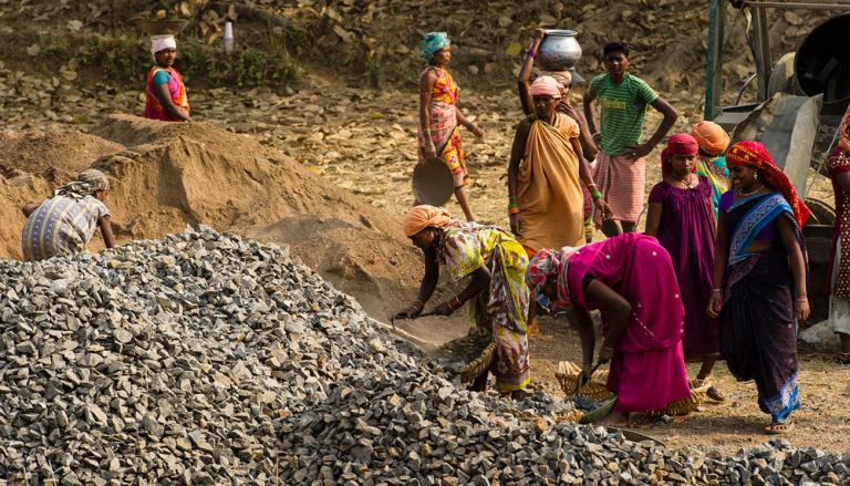 These women are working on road construction project in Asia - KP Yohannan - Gospel for Asia