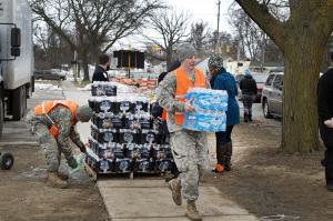 The National Guard delivers bottled water to residents of Flint, MI - KP Yohannan - Gospel for Asia