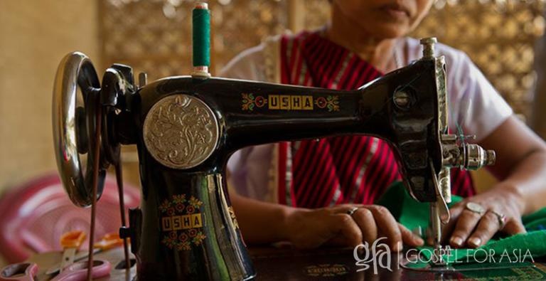 9,702 sewing machines were given to needy families in Asia in 2016, enabling many to earn a steady income and overcome their families' poverty.