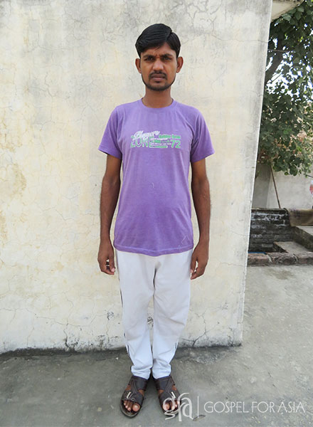 Ahmed (pictured) endured stomach pain for five months because he had no money to pay for a doctor examination. His plight is common among the global billions who live in poverty and need of medical camps.