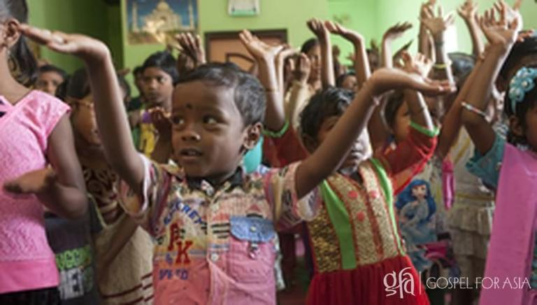 Children at Sunday School take home the songs they learn; along with the message the songs convey.