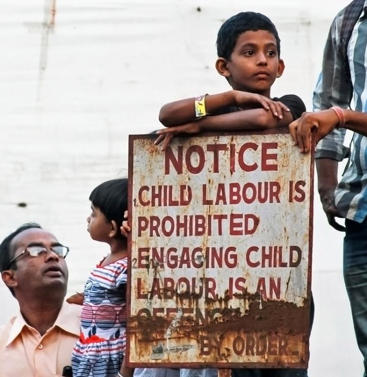 Although signs are posted, child labor still flourishes. One of the most needed areas of law enforcement is the ability to enforce laws where the laws already exist.