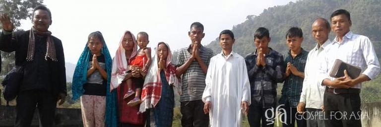 Panmoli and his family [pictured] experienced the peace of Jesus in their lives, even when everyone in their village had turned against them. God used the prayers of Jaipirya and Gospel for Asia-supported pastor Madani to help make peace with the people in their village when the villagers boycotted Panmoli.