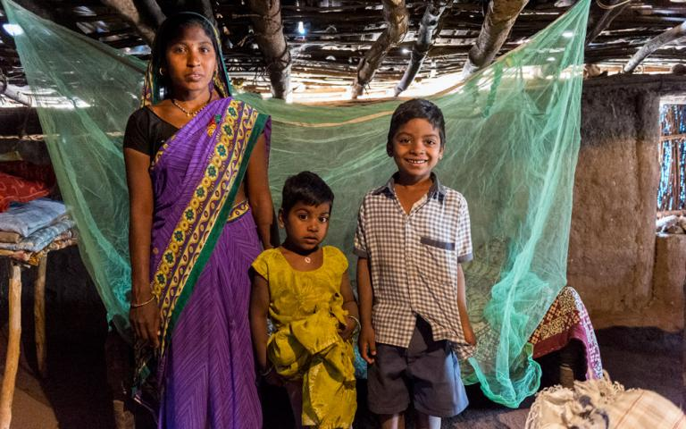 Gospel for Asia-supported Moquito net distribution