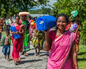 Gospel for Asia founded by Dr. K.P. Yohannan - These women were happy to receive a free mosquito net for their families from GFA-supported workers.