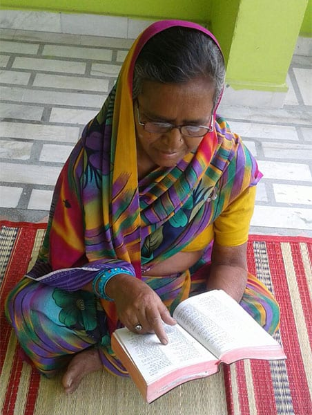 No longer held back by illiteracy, Jeni (pictured) now reads her Bible for herself and can grow in her knowledge of God's Word.