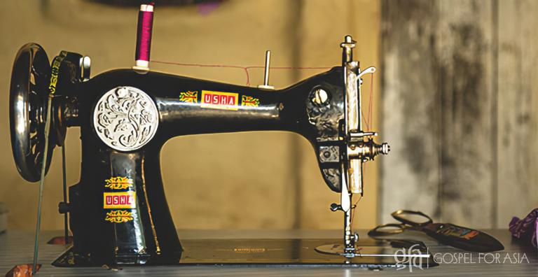 Gospel for Asia founded by Dr. K.P. Yohannan: A sewing machine increased their hope.