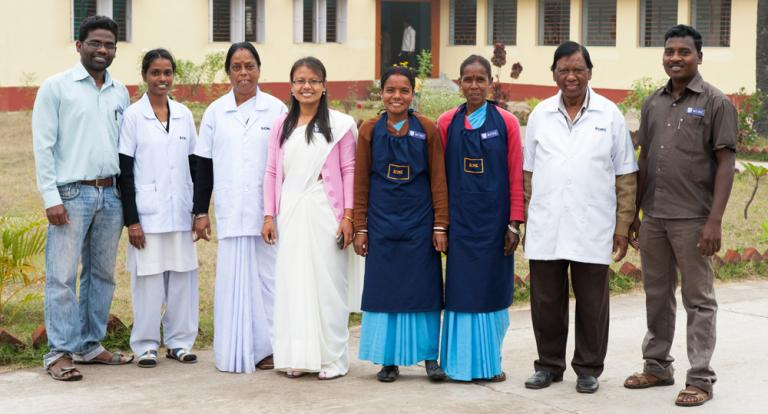 All the hospital staff at the Gospel for Asia-supported Medical Clinic exist and function with a purpose to help the poor and needy, including leprosy patients, through our medical facilities.