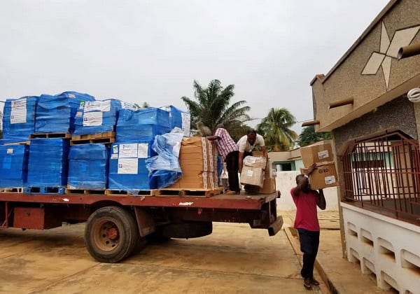 ALM provided 7,091 pounds of critical medicines and supplies to Ghana partners. Photo by ALM