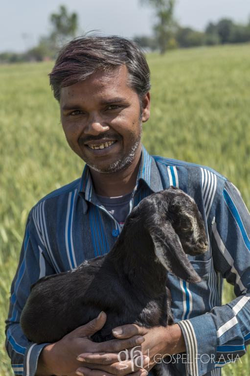 Gospel for Asia founded by Dr. K.P. Yohannan: Discussing Shahryar and his family, the limitations of illiteracy, the debt and poverty, and the answered prayers through Gospel for Asia gift distribution of a goat.
