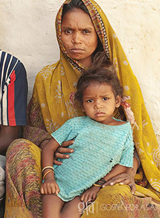 Gospel for Asia (GFA World) founded by Dr. K.P. Yohannan: When Pastor Boro visited Kalapi and Mudit, he noticed the bareness of their home and the thin, weak appearance of their children.
