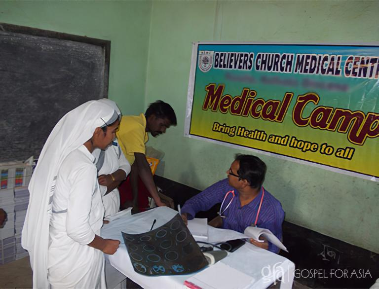 Discussing leprosy and World Leprosy Day and the Gospel for Asia medical center organized to spread healing and hope.