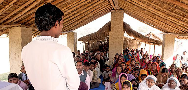 Gospel for Asia founded by Dr. K.P. Yohannan: Pastor Vidur's congregation continues to grow, and he gets to tell many of the believers about good hygiene practices for disease prevention.