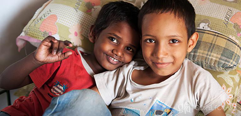 Gospel for Asia founded by Dr. K.P. Yohannan: The smiles of these two boys tell of the hope and love they discovered through the boys' street children's home