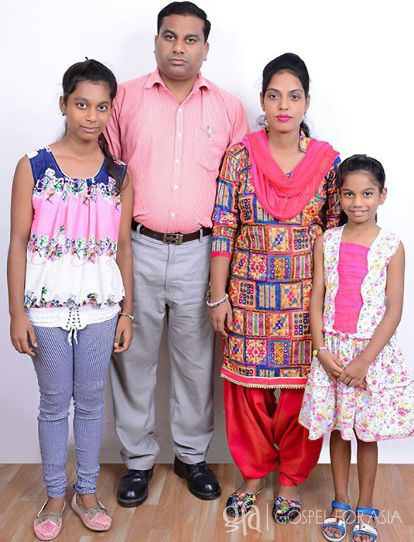 Gospel for Asia founded by Dr. K.P. Yohannan: Pastor Chamanlal and his family