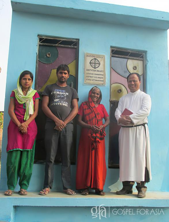 Gospel for Asia founded by Dr. K.P. Yohannan: Anesh and his family were so happy and blessed to receive the answer to their prayers: a toilet on their own premises.