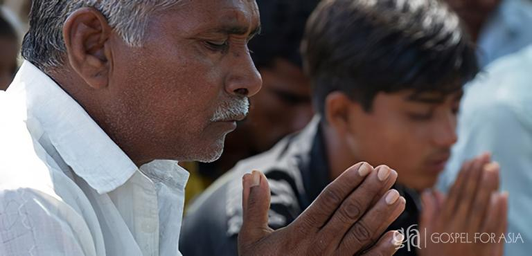 Gospel for Asia founded by Dr. K.P. Yohannan: These men are part of a congregation that meets together regularly for prayer and worship.