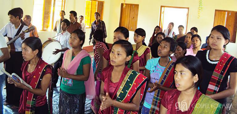 Gospel for Asia founded by Dr. K.P. Yohannan: God blessed these believers with a new place of worship just like He blessed Pastor Tapan's congregation with one through their prayers.