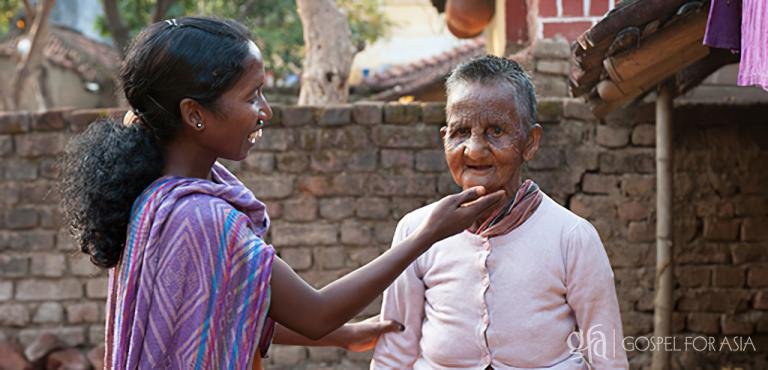 Gospel for Asia founded by Dr. K.P. Yohannan: With Christ's compassion and love, and with true understanding received from her own experience with leprosy, Sakshi served the patients as though they were her own relatives. She touched those whom others would dismiss away in fear.