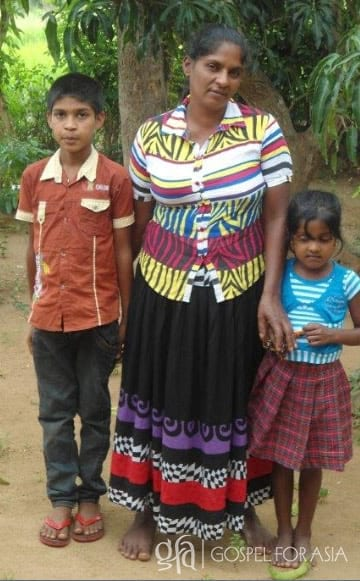 Gospel for Asia founded by Dr. K.P. Yohannan: Touched by God's mercy and kindness, Chamudi and her children underwent complete transformation at the hand of God.
