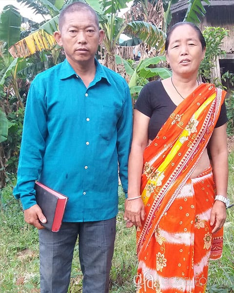 Gospel for Asia founded by Dr. K.P. Yohannan: Pastor Batsal and his wife (pictured) generously allowed Utsang and Sreva to live in their home for an entire year while Utsang received God's healing.