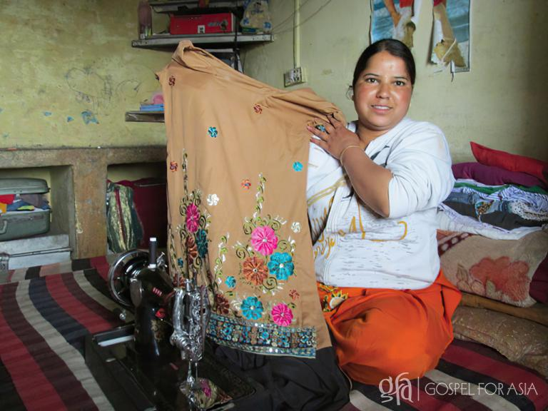 Gospel for Asia founded by Dr. K.P. Yohannan: A new sewing machine is a blessing.