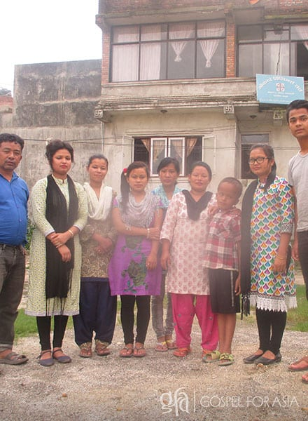 Gospel for Asia founded by Dr. K.P. Yohannan: When Abhaya (third from right) started attending the Gospel for Asia Bridge of Hope center (staff pictured), he slowly started to improve in his studies. Through Bridge of Hope, the Lord also provided friends and a loving atmosphere where Abhaya could grow.