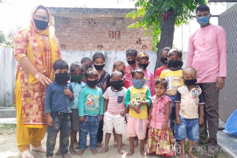 Gospel for Asia (GFA World and affiliates like Gospel for Asia Canada) founded by Dr. K.P. Yohannan: Discussing Bindhiya, her ministry alongside her husband, GFA pastor Sachitan, amid the Coronavirus lockdown, sewing face masks for the slum children.