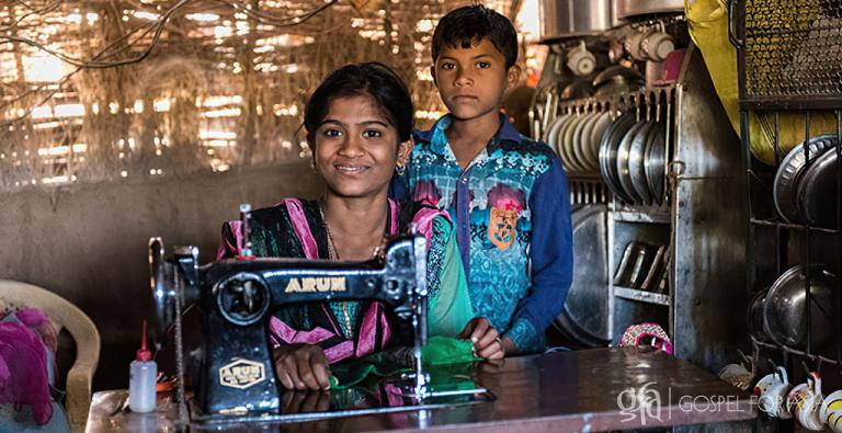 More sewing machines through Gospel for Asia gift distribution can help thousands of other families like theirs