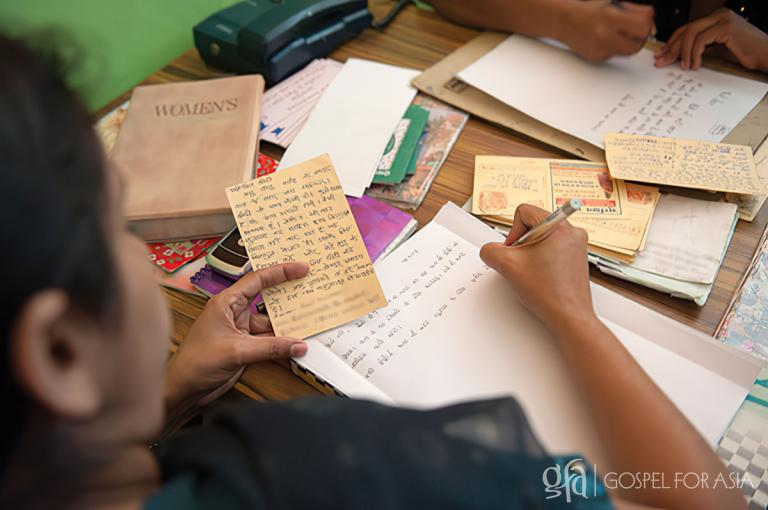 Gospel for Asia radio ministry correspondents pray for listeners and personally respond to the letters, phone calls and emails they receive.