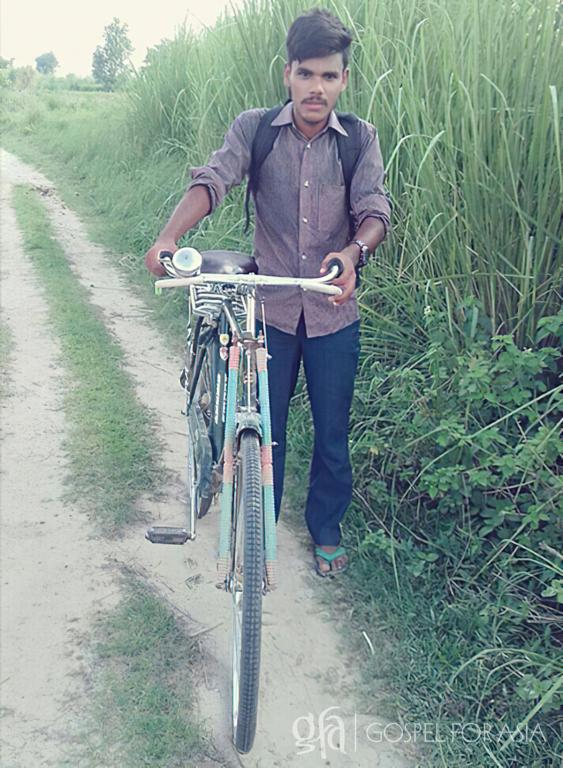 Gospel for Asia (GFA World) founded by Dr. K.P. Yohannan: Missionary with his bike